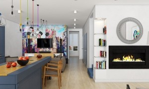 Дизайн проект интерьера дома в КП Мечта