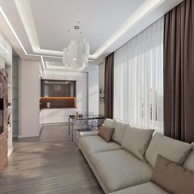 Дизайн проект интерьера квартиры ЖК Спасский Мост г.Красногорск
