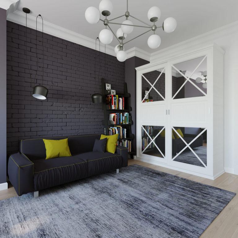 Дизайн-проект интерьера квартиры в ЖК Триколор