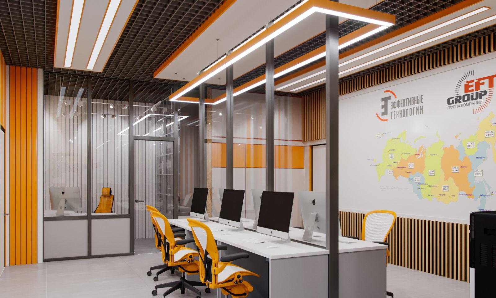 Дизайн-проект офисного помещения в ЖК Савеловский Сити