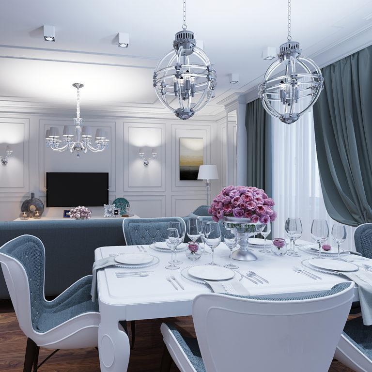 Дизайн-проект интерьера квартиры в ЖК SMOLENSKY DE LUXE