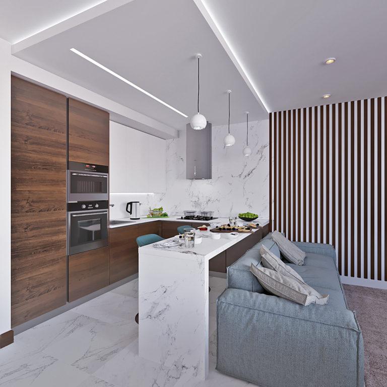 Дизайн-проект интерьера таунхауса в ЖК Северная Слобода