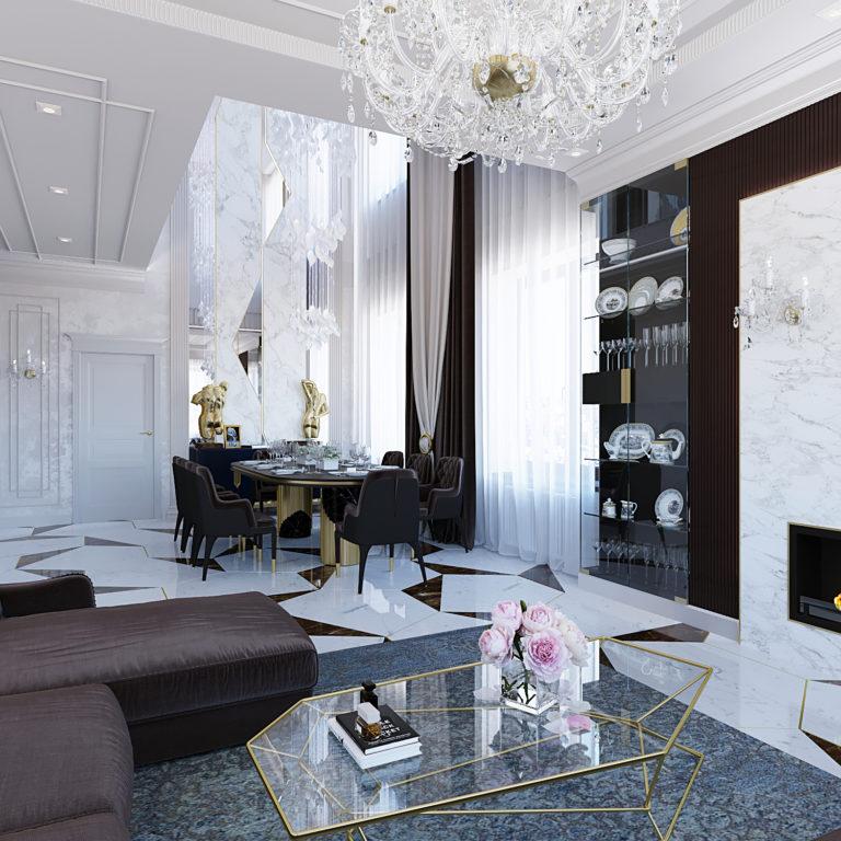 Дизайн-проект интерьера квартиры в ЖК Пресня Сити