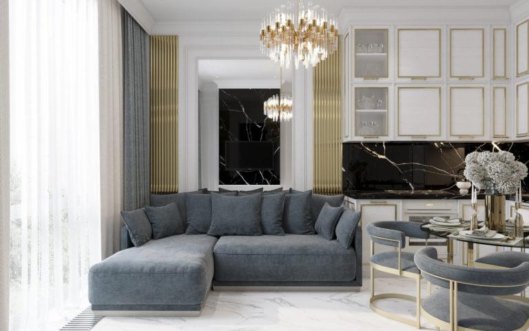 Дизайн-проект интерьера квартиры в ЖК Вавилов Дом